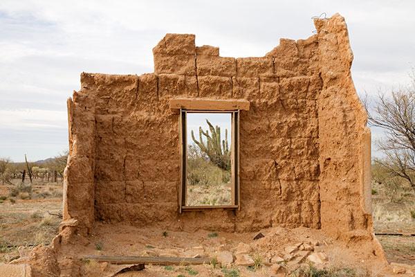 Ruins Of Old Adobe Building Pima County Arizona